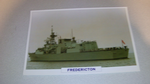 Fredericton 1993 Canadian warship framed picture